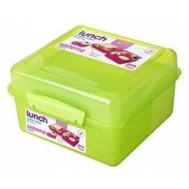 Madkasse Cube Max m/pot, grøn