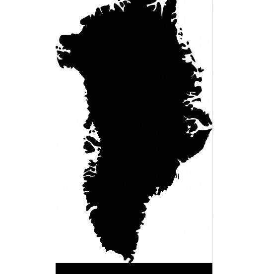 WALLSTICK GRØNLANDSKORT SORT