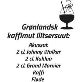 *WALLSTICK GRØNLANDSKKAFFE SORT