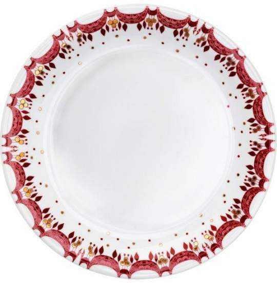 Guirlande Juletallerken rød Ø28,5 cm