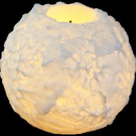 Vokslys Snowta, 7 cm, hvid