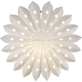 Stjerne Sheer Papir, hvid, 43 cm