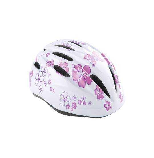 Børnecykelhjelm hvid/pink