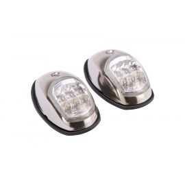 Lanterne LED, rustfri sæt, rød/grøn