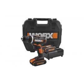 Worx boremaskine Akku 2x20v batterier