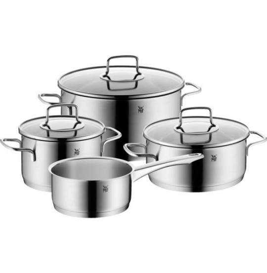 Merano grydesæt 4 dele stål med 3 låg