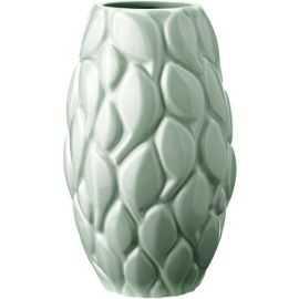 Leaf, vase, celadon, 21 cm