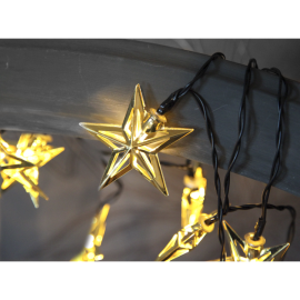 Lyskæde Stjerner, 10-lys, 135 cm