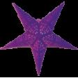 Stjerne Papir, 60 cm, lilla