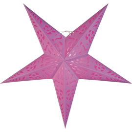 Stjerne Papir, 60 cm, rosa