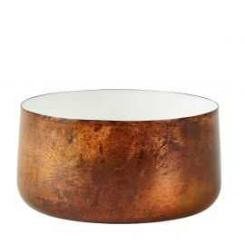 Skål, jern, emalje, kobber. 1 L