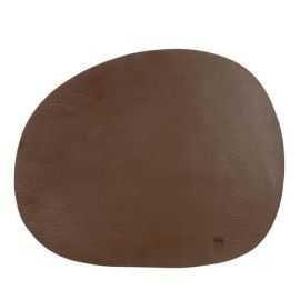 RAW Recycled Dækkerserviet læder brun