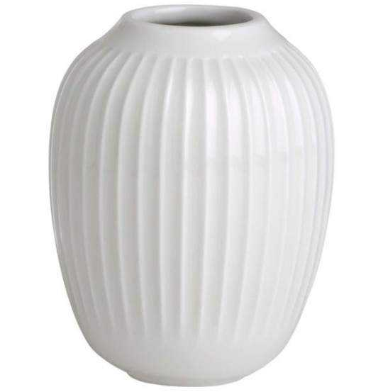 Hammershøi Vase H10 hvid