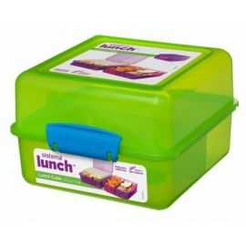 Lunch Cube firk. opdelt madkasse 1,4L
