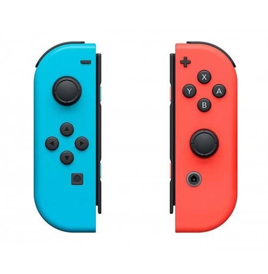 NS Joy-Con controller par neon rød/blå