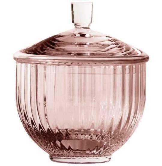 Lyngby Bonbonniere, glas Ø10 cm burgundy