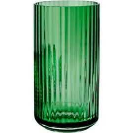 Lyngby Vase, grøn klar H20xD10,5 cm