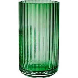Lyngby Vase H15,5 copenh. green glas