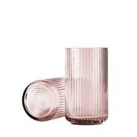 Lyngby Vase H25 burgundy glas