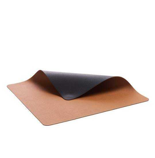Dækkeserv 46x33 4stk sort/brun