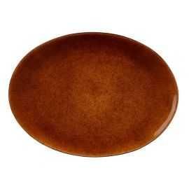 BITZ Fad oval 45x34 cm sort/amber