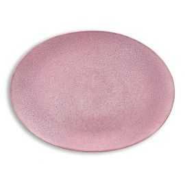 BITZ Fad oval 45x34 cm grå/lyserød