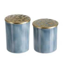 Vasesæt Karine Blomst sæt af 2, blå