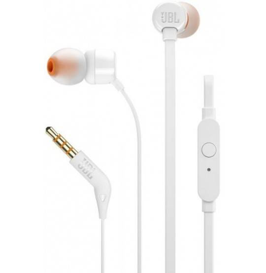 JBL in-ear hovedtelefoner T110 - hvid