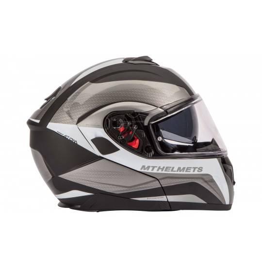 Flip-up hjelm MT Atom SV sort/hvid L