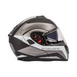 Flip-up hjelm MT Atom SV sort/hvid XXL