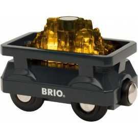 BRIO - Guld Vogn med Lys
