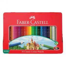 Faber-Castell - 6 kantede farv