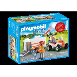 Playmobil - Redningsfirhjulstr