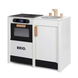 BRIO - Hvidt legekøkken med ko