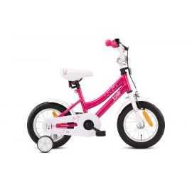 "Børnecykel 12"" pink/hvid Butterfly"