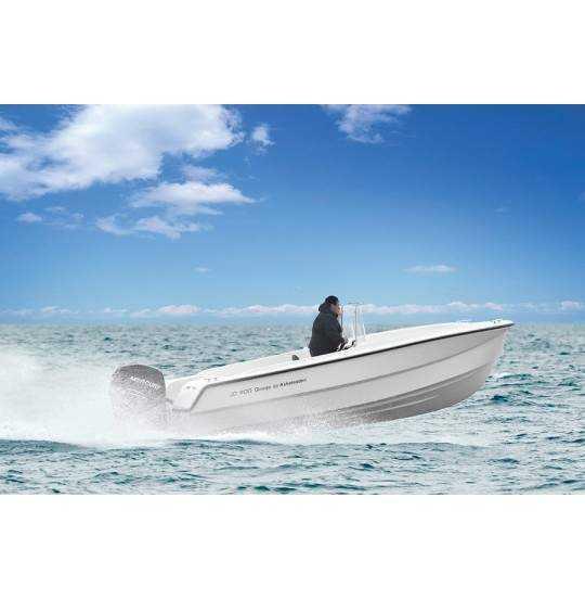 Båd uden motor Single styrepult uden styring