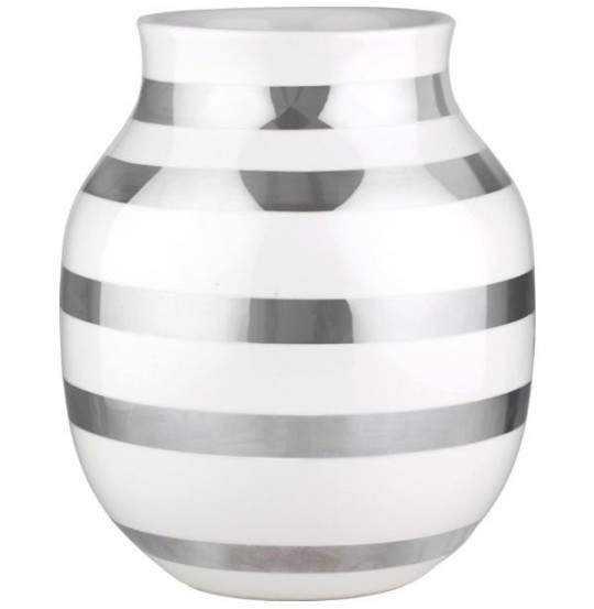 Omaggio Vase H20 sølv