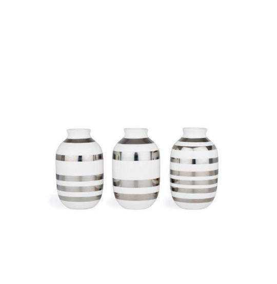 Omaggio Vase H8 sølv 3 stk.