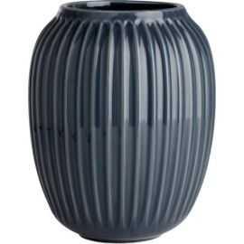 Hammershøi Vase H20 antracitgrå
