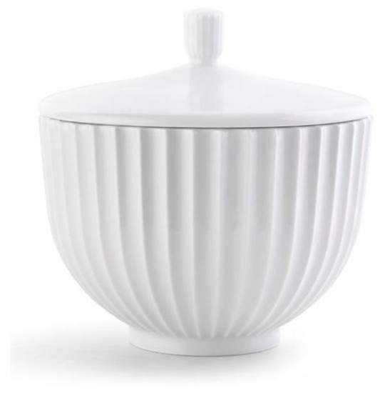 Lyngby Bonbonniere Ø14 hvid porcelæn