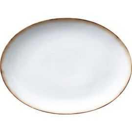 BITZ Fad oval 45x34 cm grå/creme