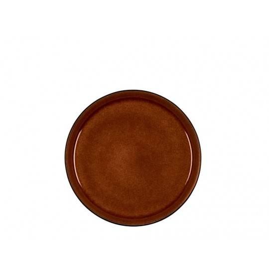 BITZ Gastro Tallerken D21 cm sort/amber