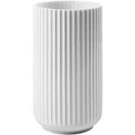 Lyngby Vase H25 hvid porcelæn
