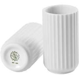 Lyngby Vase H12,5 mat hvid porcelæn