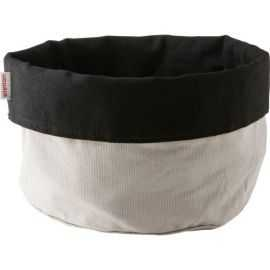 Brødpose stor, sort/sand, bomuld