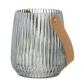 Lanterne 13x15 cm grøn glas