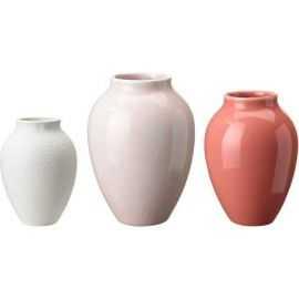 Knabstrup vasen 3 pak, Rosa/hvid