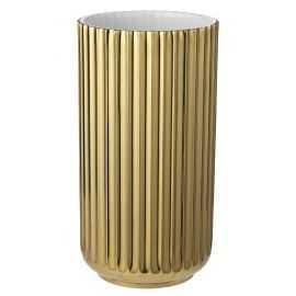 Lyngby Vase H20,5 guld porcelæn