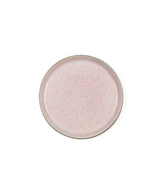 BITZ Gastro Tallerken D21 cm grå/lyserød