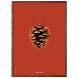 Plakat Kogle rød baggrund 30 x 40 cm